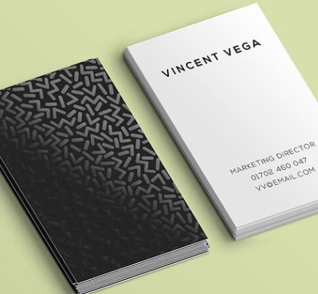Spot UV Printed Business Cards